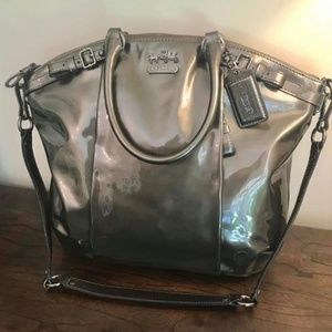 Coach Madison Lindsey Patent Leather Handbag